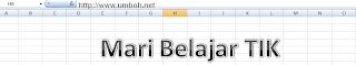 Menyisipkan WordArt Excel 2007