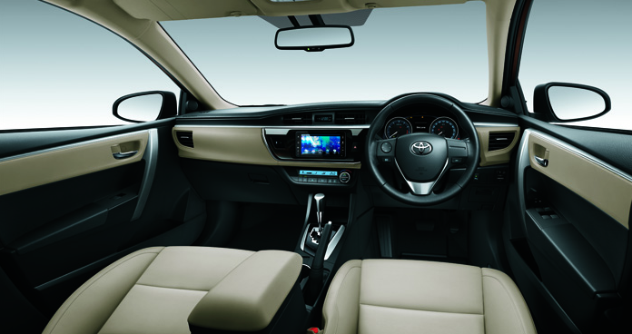 Ilustrasi interior All new corolla altis 2014