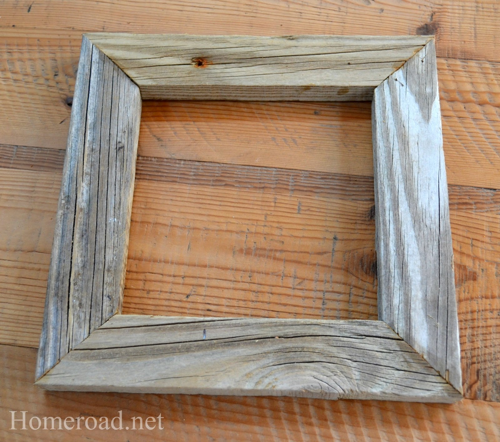rustic driftwood picture frame