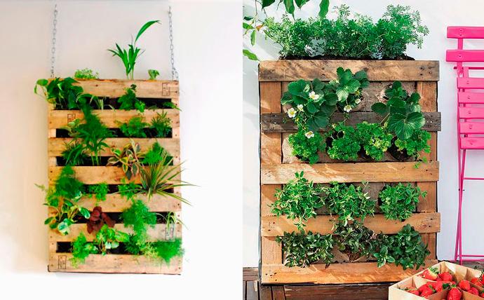 Escuela de vida sostenible noviembre 2014 - Jardines verticales con palets ...