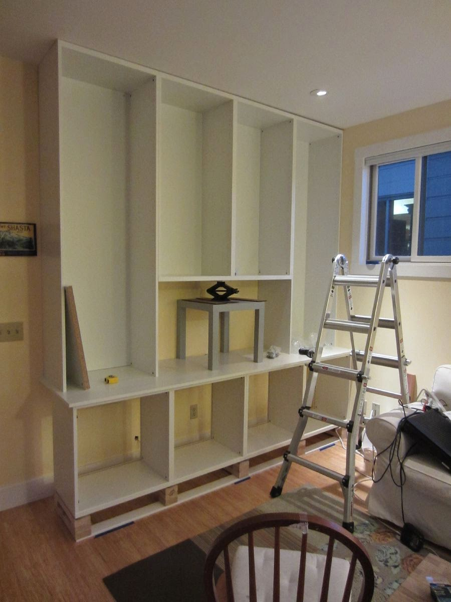 Besta Built In Family Room Bookshelf And TV Unit IKEA