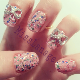 barry-m-pink-sequin-nails-and-diamante-bows