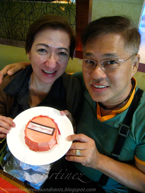 surprise wedding anniversary cake from EDSA Shangri la