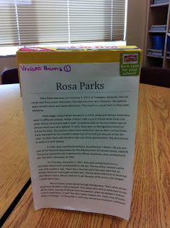 Rosa parks book report