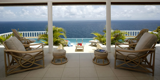 This Cap Estate luxury home offers spectacular views of the Caribbean Sea