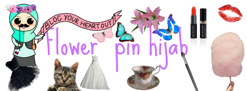 flower pin hijab