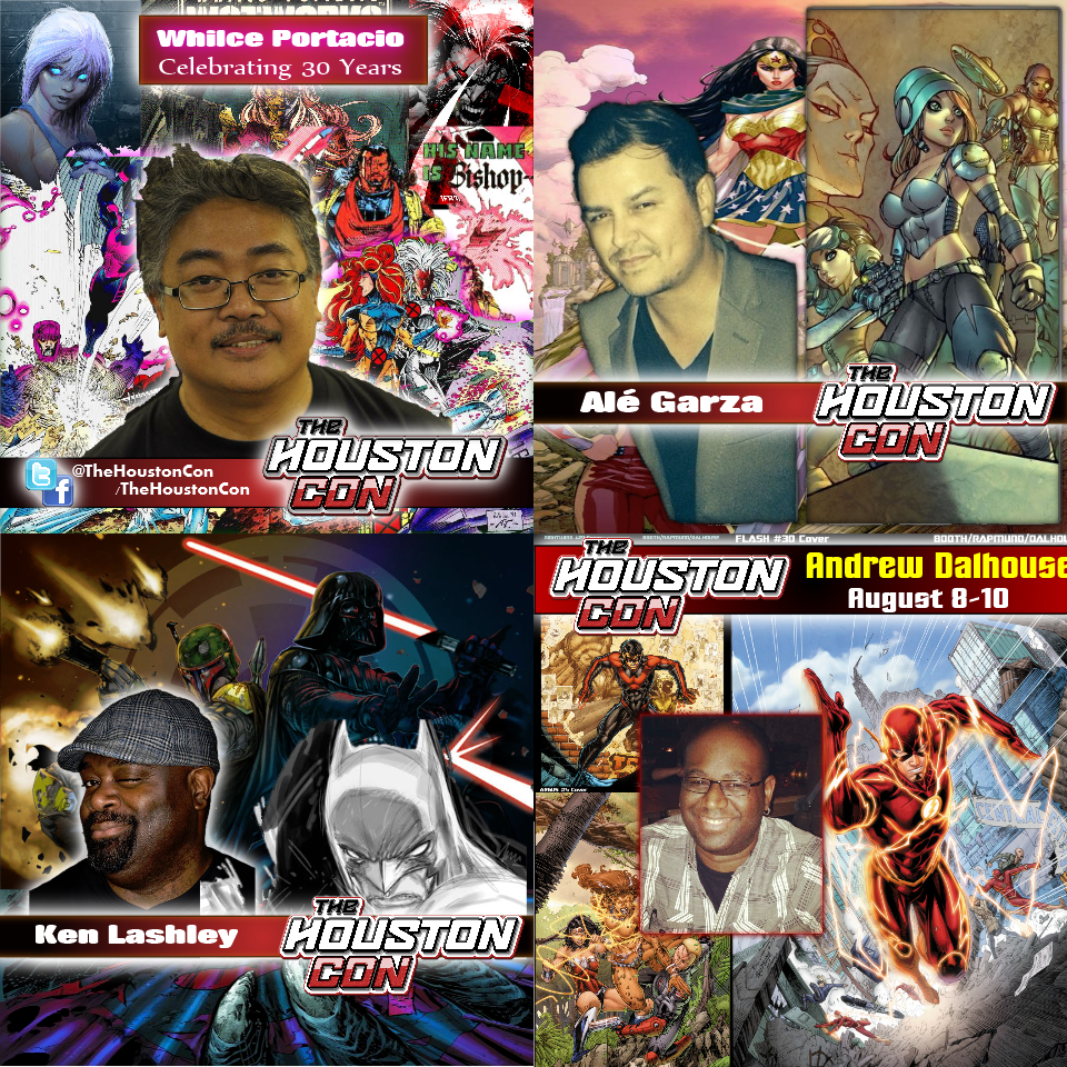 The Houston Con 2014 Comic Book Industry Guests