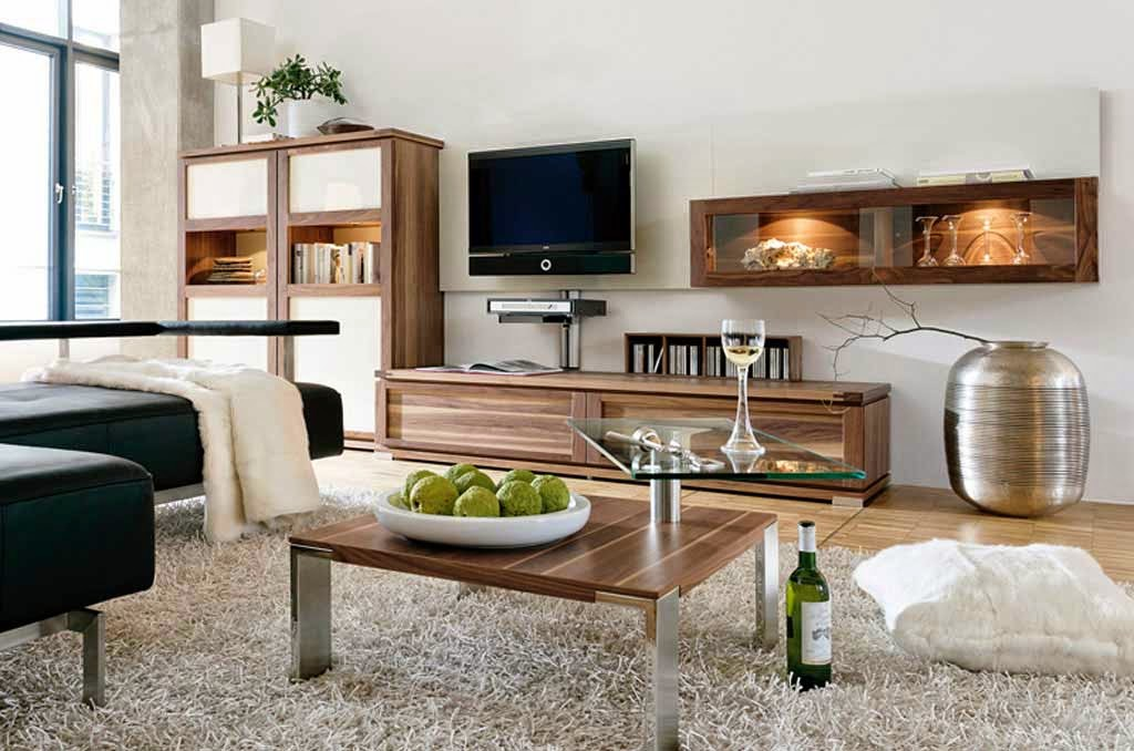 Interior Living Room Luxury Minimalist Wood Furniture