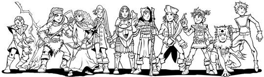 Hero kids fantasy supplement coloring book heroes ii