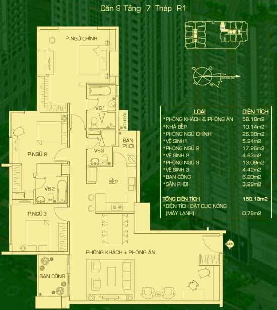 căn 9 lâu 7 tháp R1 everrich