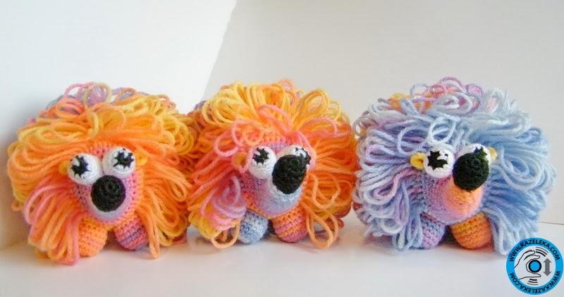 crochet toy - вязанные ежики