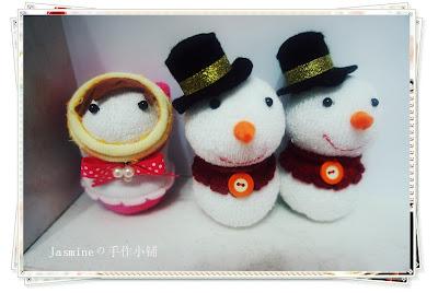 雪人袜娃,袜子娃娃,手作袜子娃娃