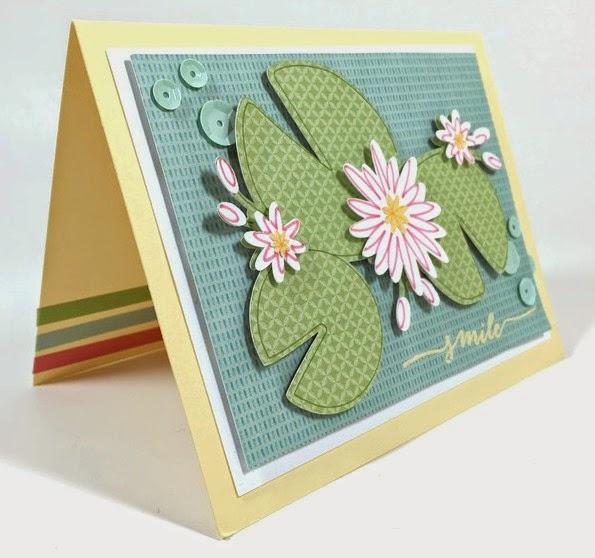 Cricut Lily Pad card