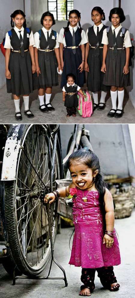 a97927 small people 7 girl 10 Manusia Terpendek paling Terkenal Di Dunia