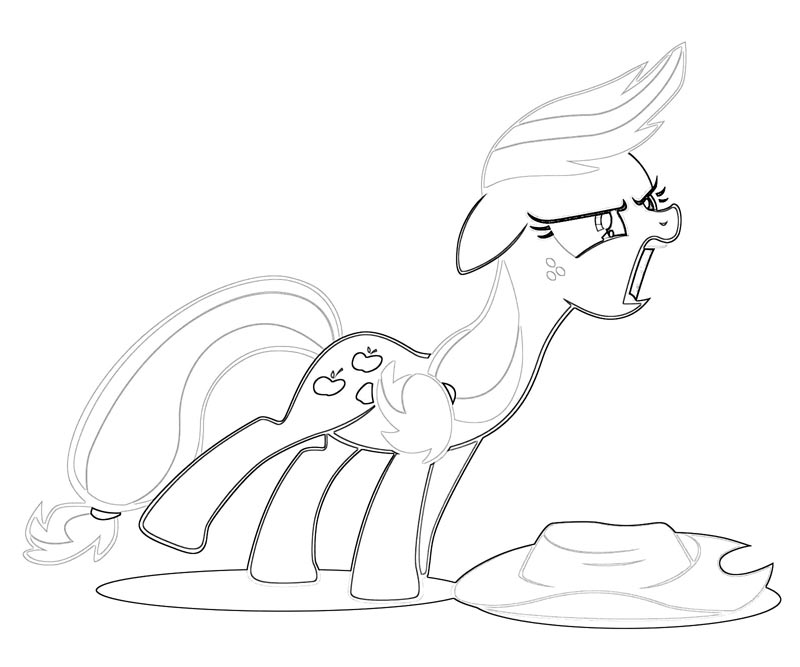 #32 My Little Pony Applejack Coloring Page