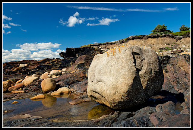Nova Scotia, Gaff Point; Boulder