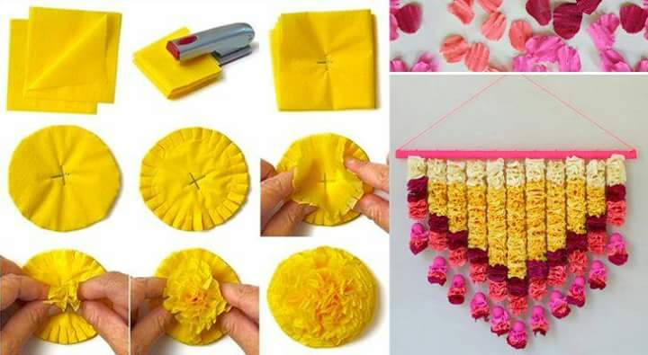 Paper decoration idea crazzy craft Home made decoration items for diwali
