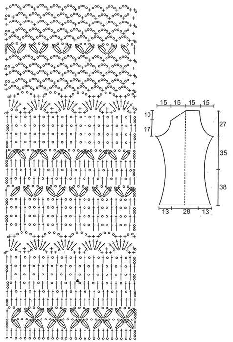 Схемы комбинированного вязания крючком 286