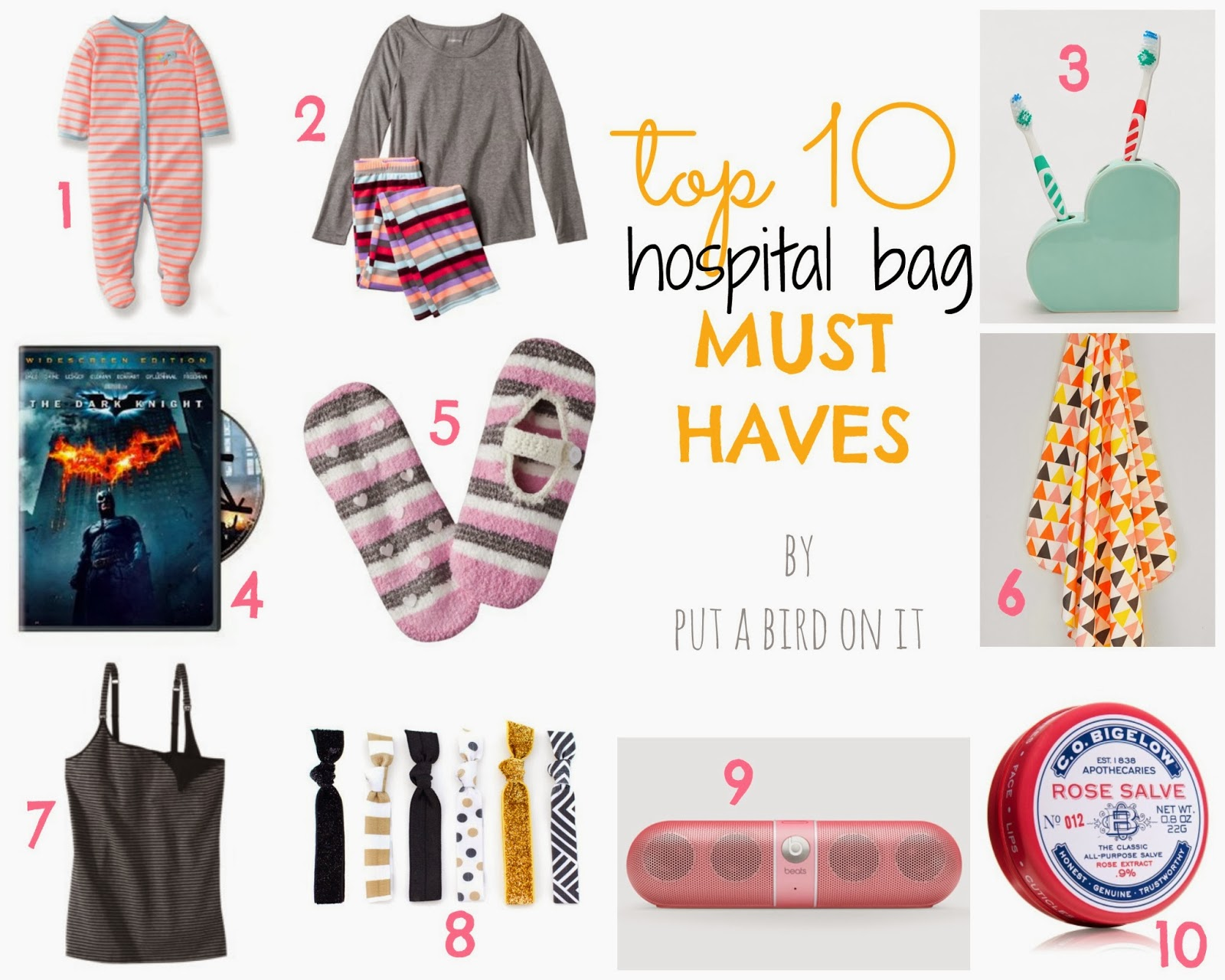 Put A Bird On It Top 10 Hospital Bag Must Haves
