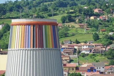 Langreo, vista de la torre del museo de la siderurgia