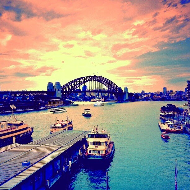 Sydney Harbour Bridge, Sydney Australia at Sunset
