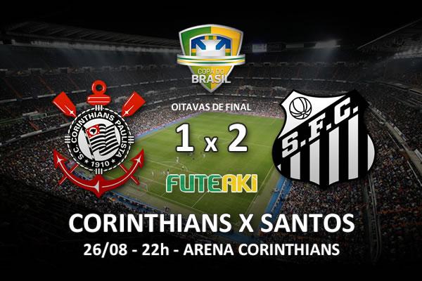 Veja o resumo da partida com os gols e os melhores momentos de Corinthians 1x2 Santos pelas oitavas de final da Copa do Brasil 2015.