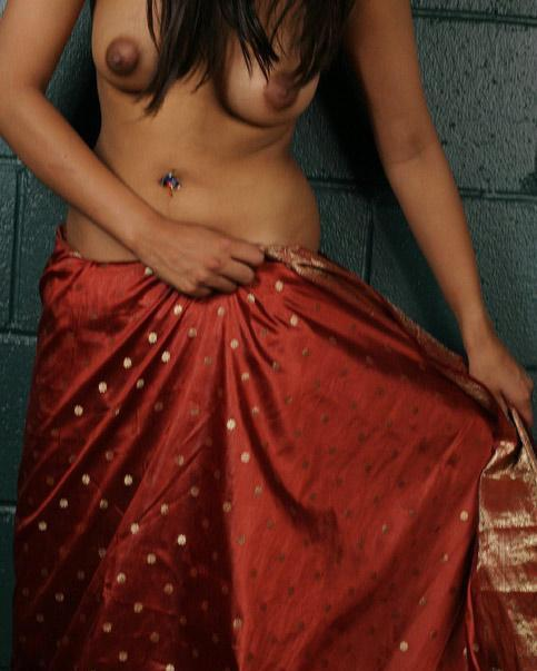 Sexy Hot Desi Indian Girl Removing Her Red Saree
