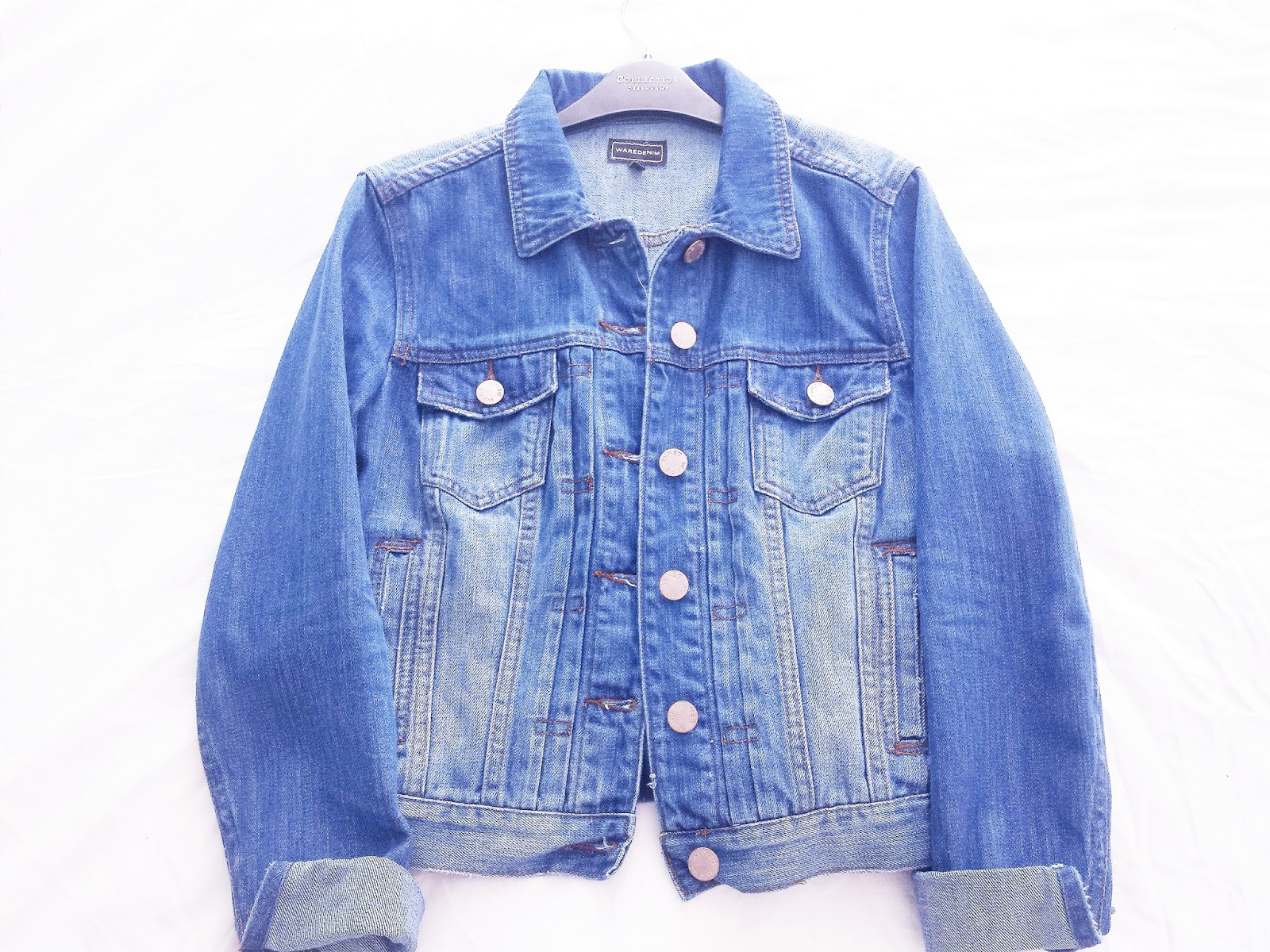 Warehouse Pleat Denim Jacket Turn Up Sleeves