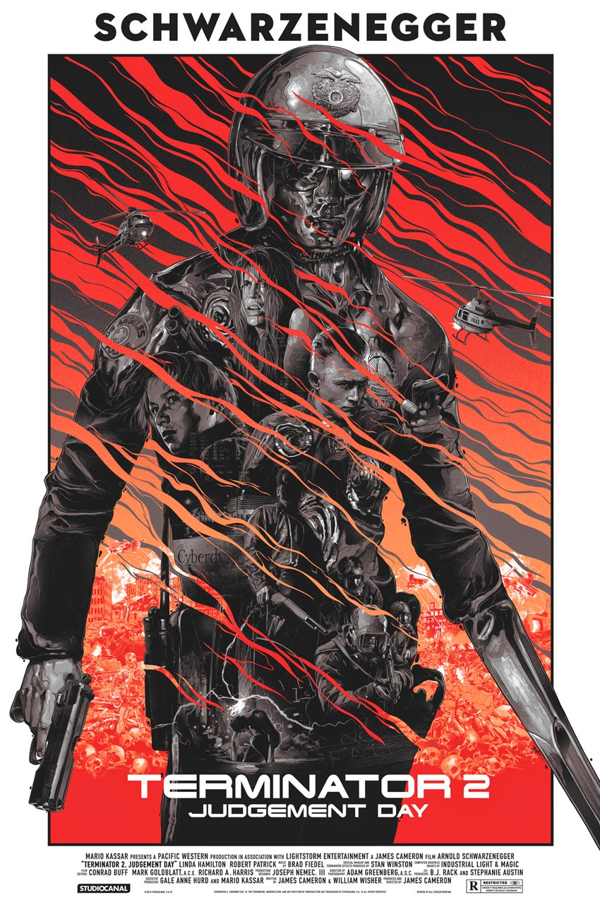 Terminator 2: Judgment Day Variant Screen Print by Grzegorz Domaradzki