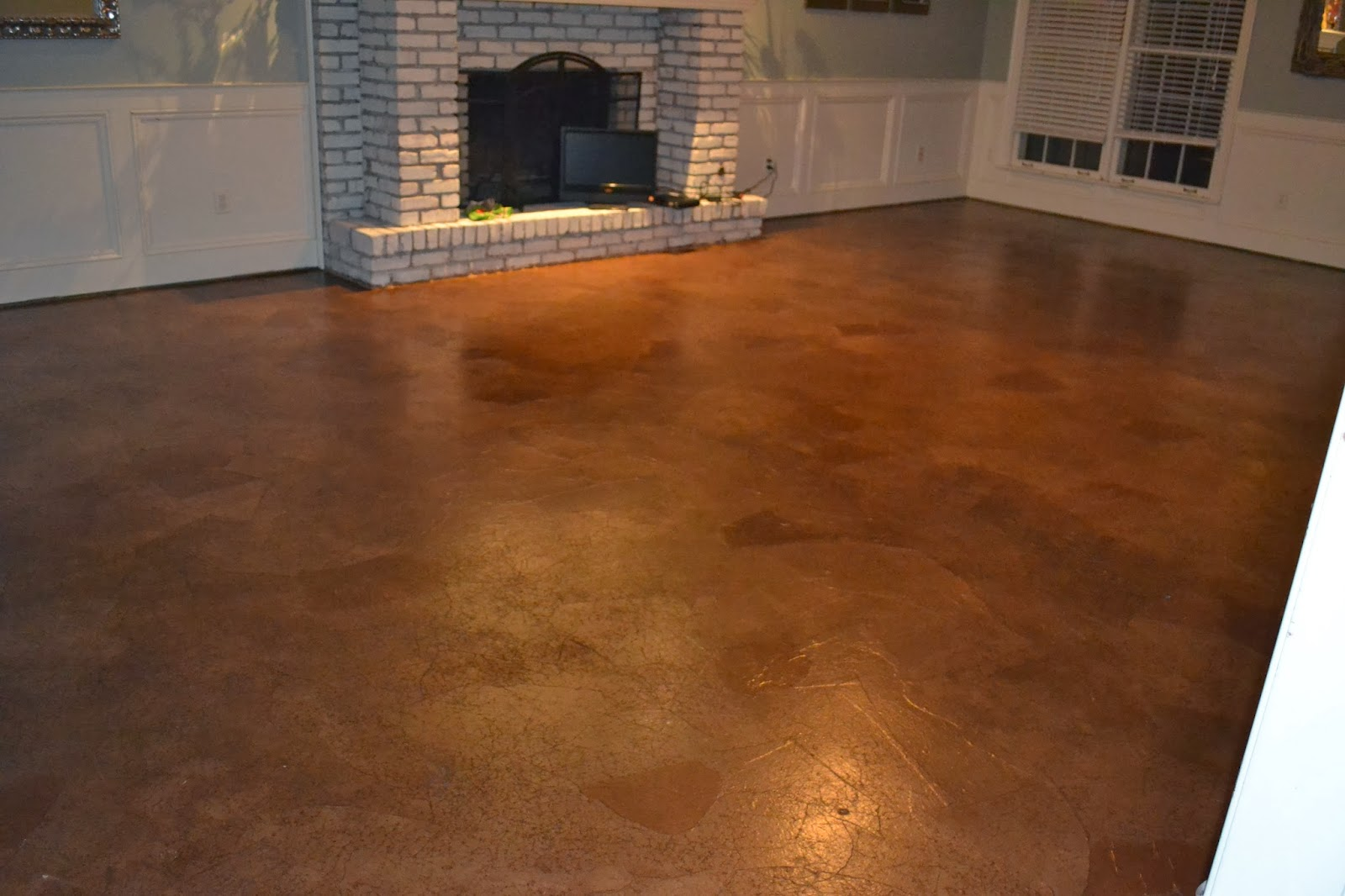 Ruby bloom brown paper bag floor over concrete subfloor Inspire flooring