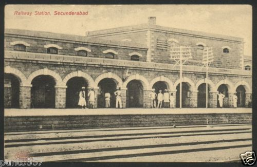 Daund India  city images : Railway Station, Secunderabad Vintage Postcard Old Indian Photos