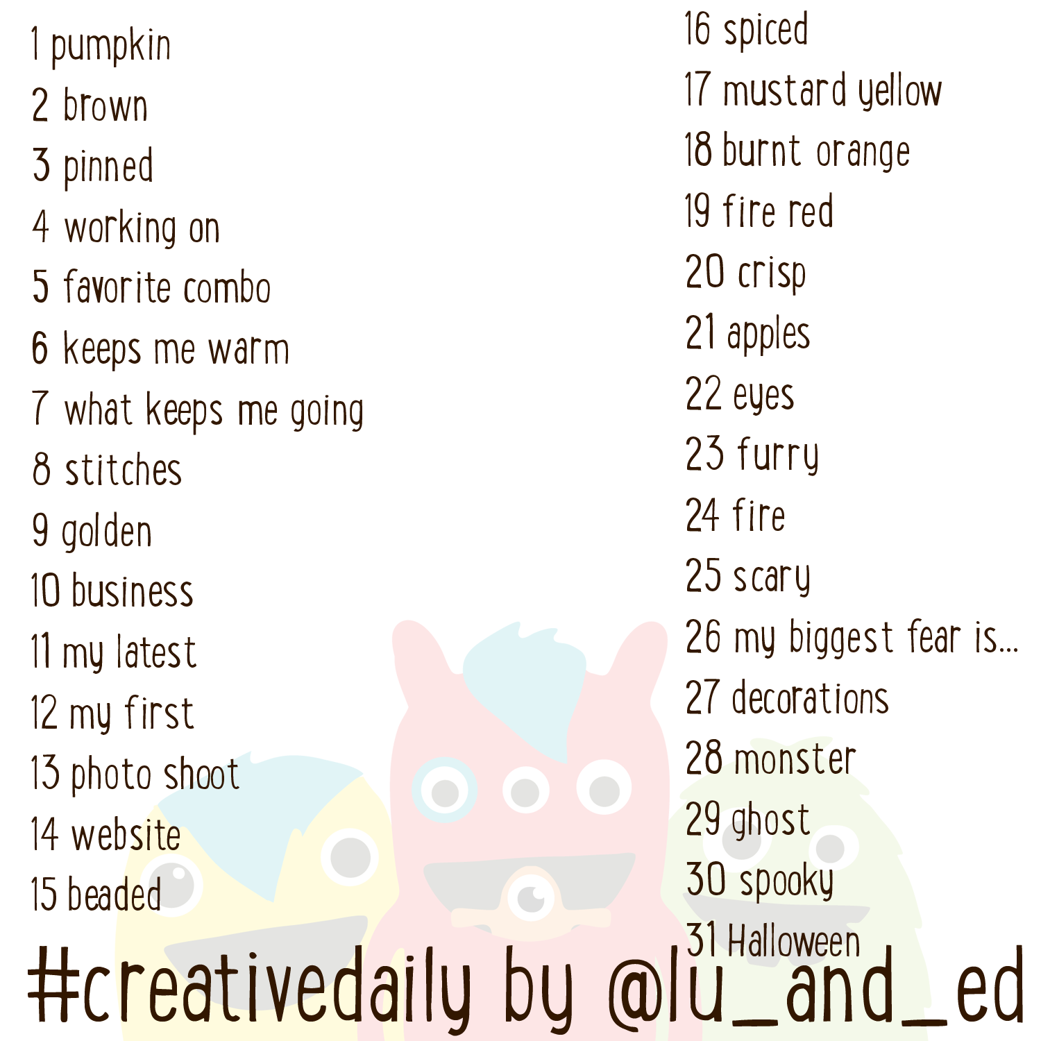 http://luanded.blogspot.com/2014/10/october-creative-daily-prompts.html