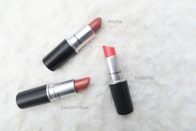 My MAC Lipstick Collection, MAC Lipstick Collection, MAC Lipstick Swatches, MAC Collection, Lipstick Collection, MAC Finishes, MAC Textures, MAC Formula's, Ramblin' Rose, Viva Glam V, Diva, Cosmo, Hue, Velvet Teddy, Twig, Mocha, Peach Blosson, Creme D'Nude, Patisserie, Brave, Creme Cup, Ruby Woo, Viva Glam Miley Cyrus 2, Riri Woo, Lady Danger, Rebel, Captive, All Fired Up, St Germain, Snob, Whirl, MAC Lipstick Kylie Jenner, Kylie Jenner Lipstick