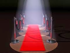 Red carpet with red velvet rope