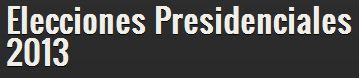 ELECCIONES PRESIDENCIALES 2013 CHILE | CANDIDATOS | ENCUESTAS