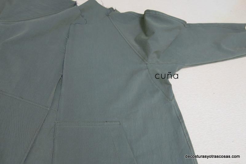chaqueta con cuña en la manga