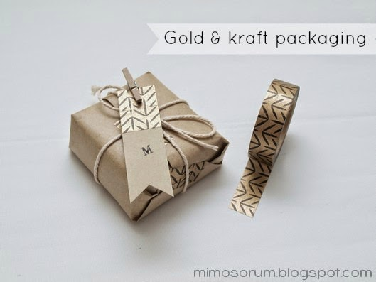 Packaging en oro y kraft. Diy: gold & kraft gift wrapping