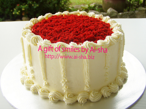 Red Velvet Cake with Cream Cheese Frosting Puchong - Aisha ...