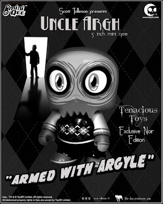 Tenacious Toys Exclusive Noir Edition Uncle Argh Mini Qee by Scott Tolleson