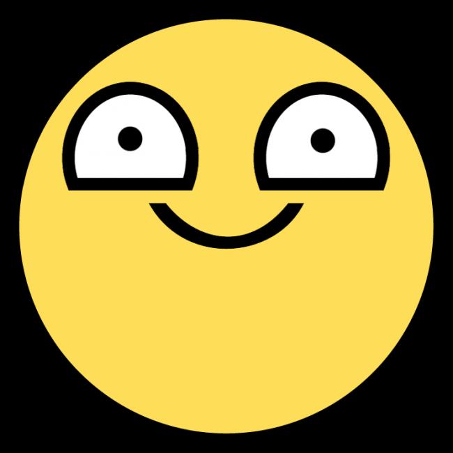super happy meme face