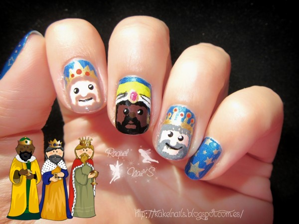 Reyes Magos nail art