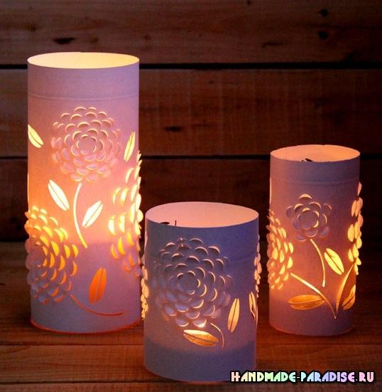 Бумажный фонарь своим руками
