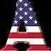 Alfabeto con la Bandera de USA.