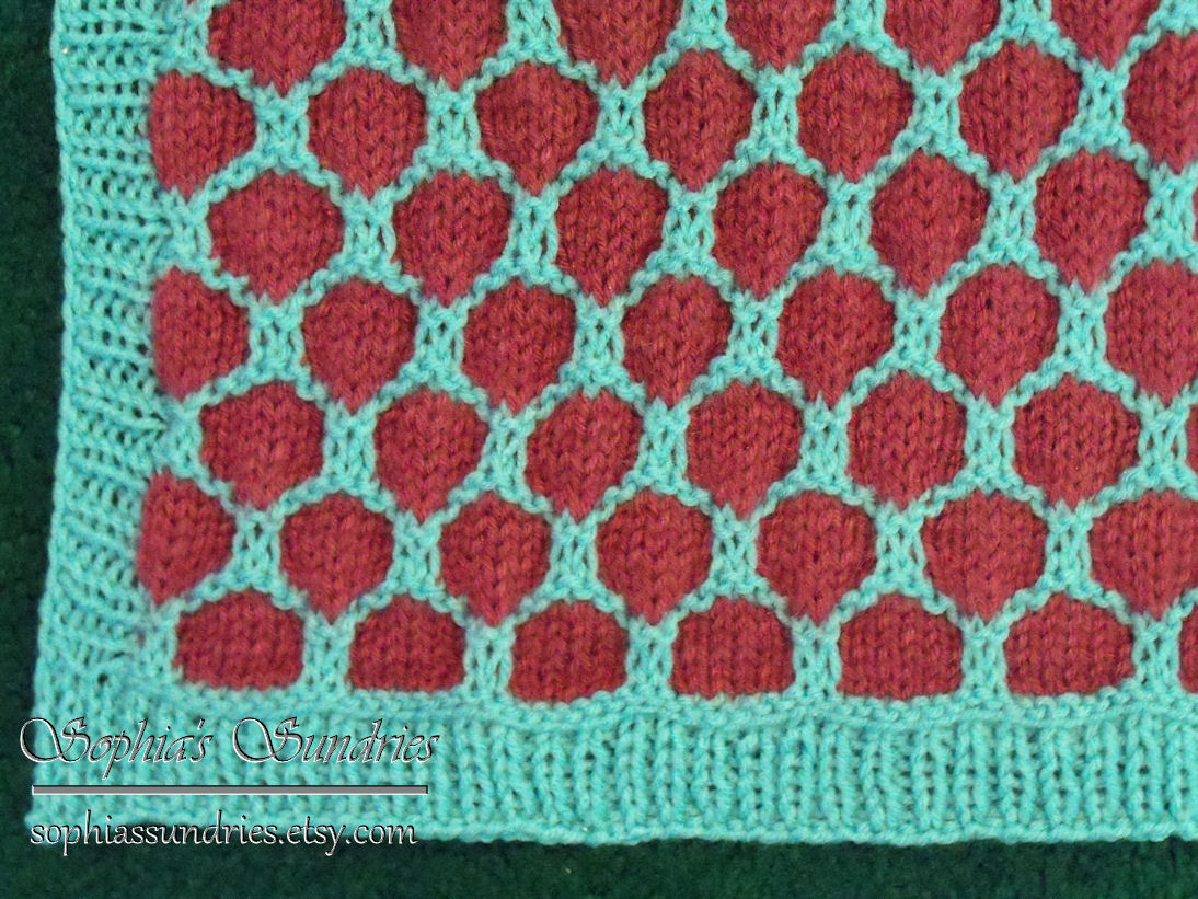 Knitting: Honeycomb Stroller Blanket for South Africa Sophias Sundries