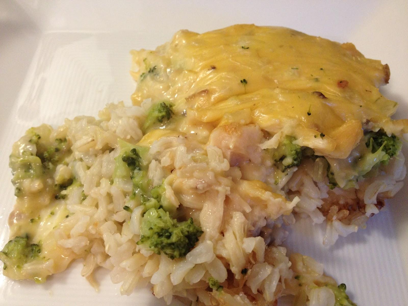 chicken broccoli cheese rice casserole