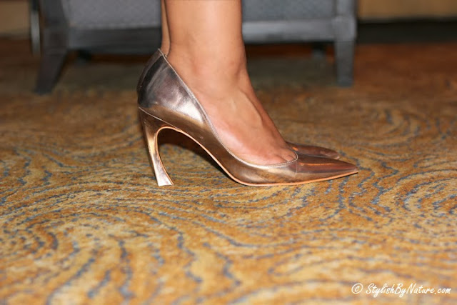 Golden Party heels