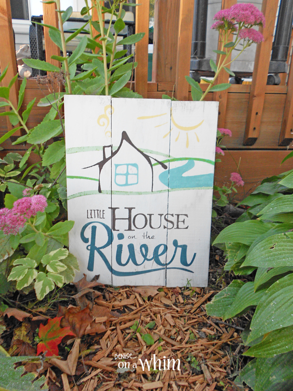 Little House on the River Painted Pallet from Denise on a Whim