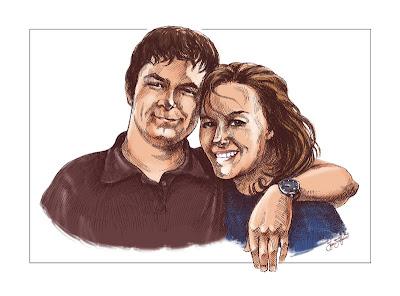 portrait jeune couple (coloré)