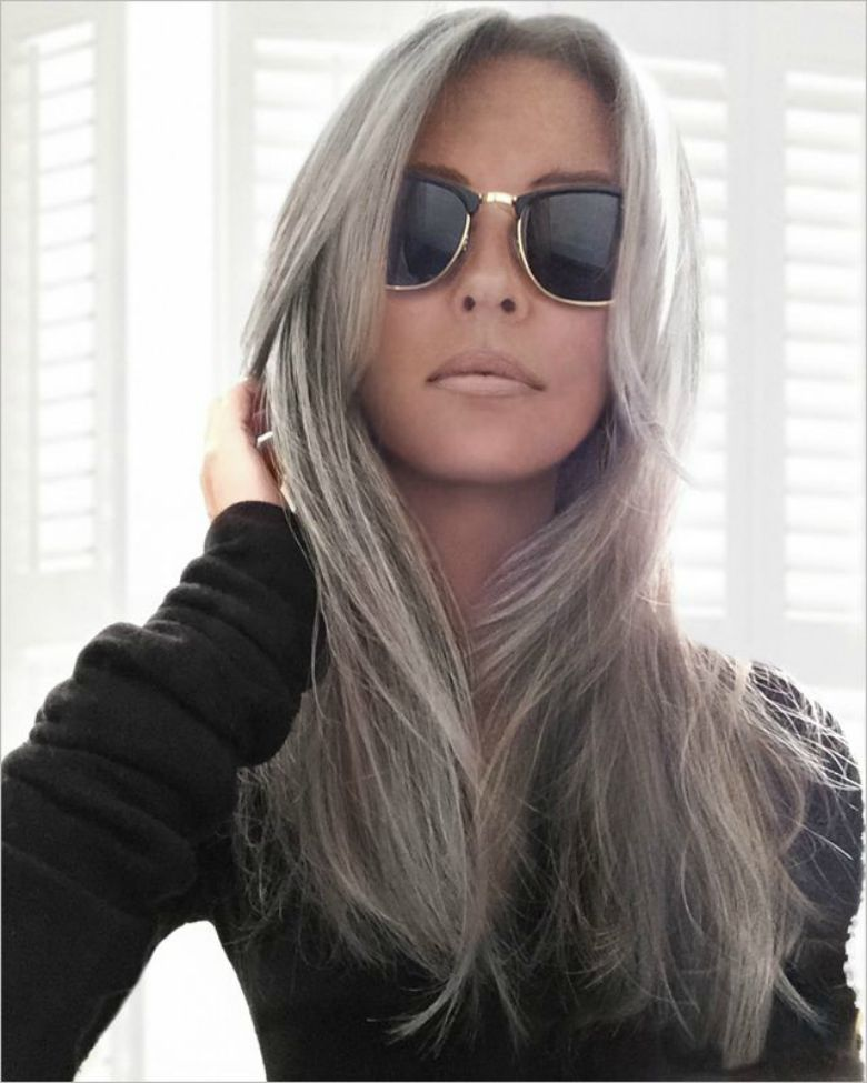 Silver hair color hair color chart trend hair color 2017 for Color gray or grey
