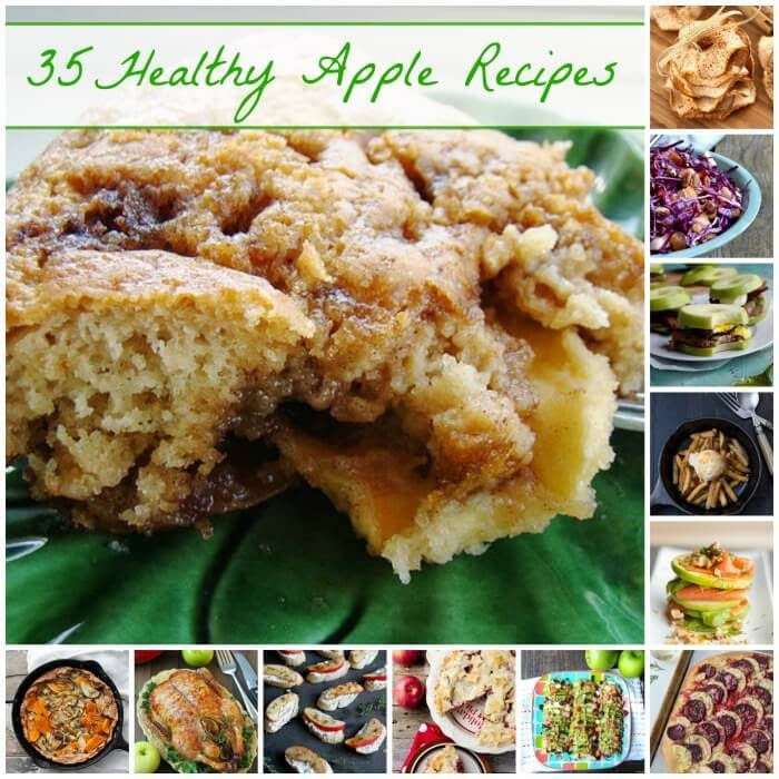 35 Healthy Apple Recipes | Becky Cooks Lightly #healthyapplerecipe